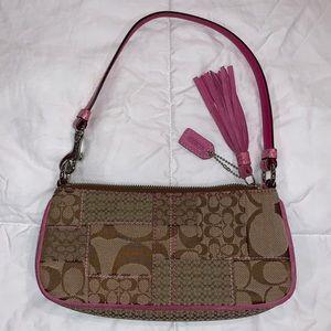Coach Patchwork Clutch w/ Pink Shoulder Bag #3693
